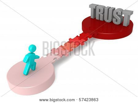 Puzzle bridge to trust