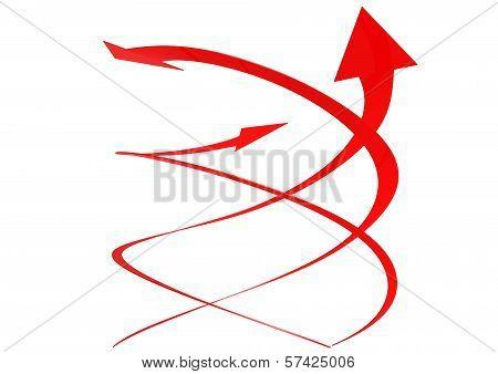 Three twist arrows