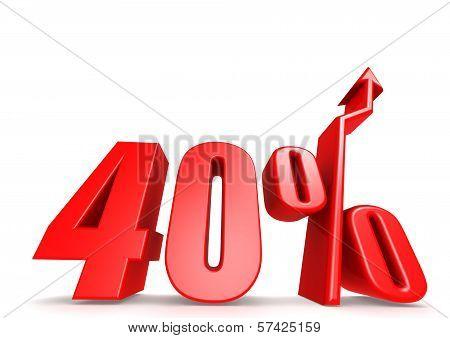 Up 40 percent
