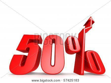 Up 50 percent
