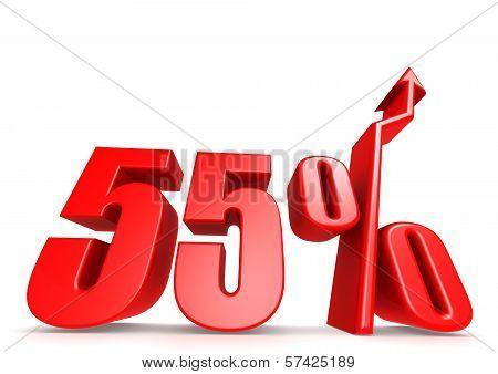 Up 55 percent