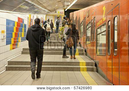 Carmelit underground train