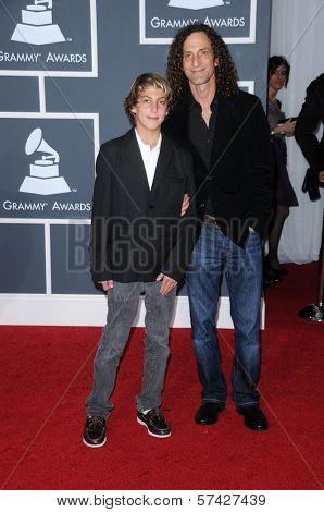 Kenny G and son at the 52nd Annual Grammy Awards - Arrivals, Staples Center, Los Angeles, CA. 01-31-10