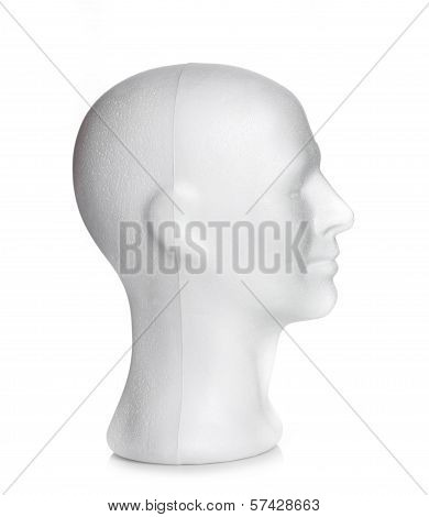 Male Head Of Styrofoam