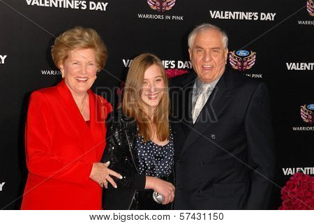 Garry Marshall with wife and daughter at the