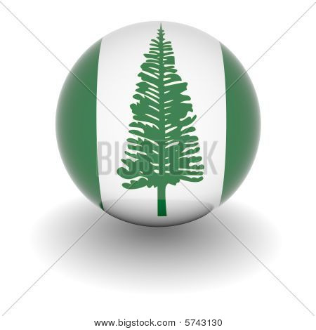 High Resolution Ball With Flag Of Norfolk Island