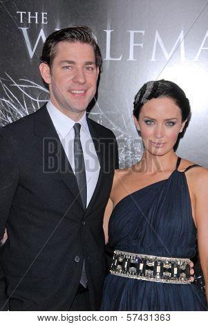 John Krasinski and Emily Blunt at