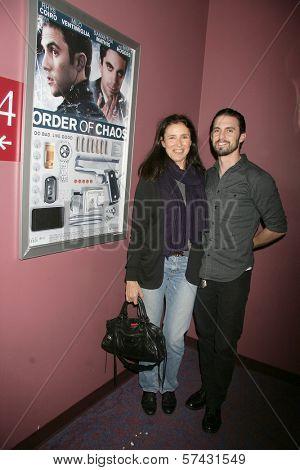 Mimi Rogers and Milo Ventimiglia at the