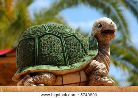 Green Tortoise Statue