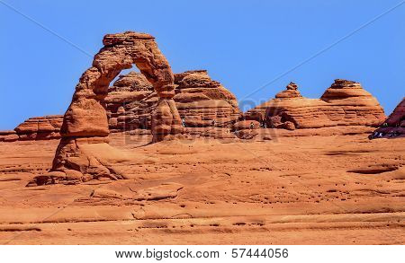 Delicate Arch Rock Canyon Arches National Park Moab Utah
