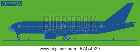 Silhouette Of  Plane