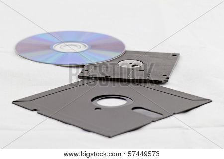 Old Fashion Floppy An Cd Dvd