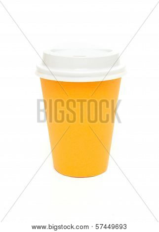 Orange To Go Coffee Cup