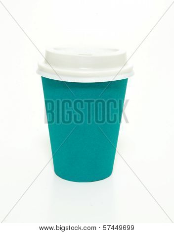 Blue Green To Go Coffee Cup