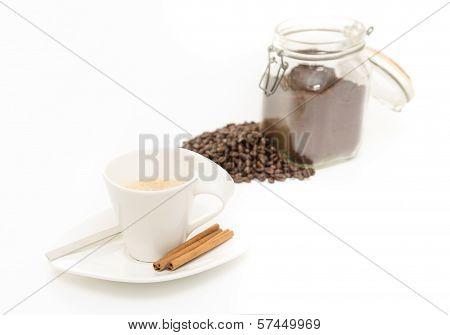 Coffe On White