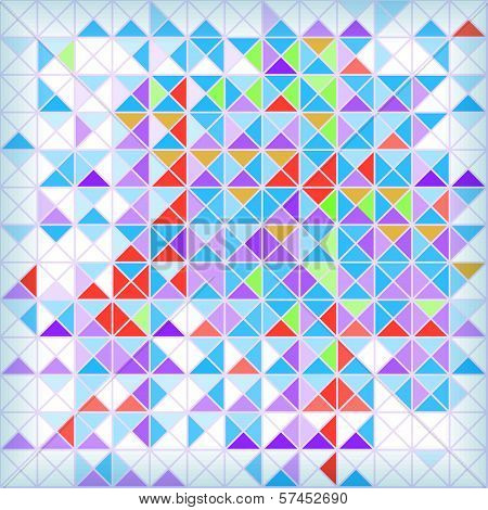 Bright Abstract Geometrical Mozaic Background With Blue And Red Triangles. Eps10