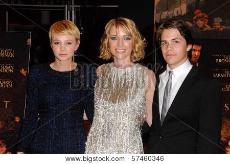 Carey Mulligan, Shana Feste and Johnny Simmons  at