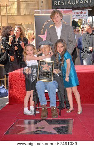 Dennis Hopper, Harry Hopper, Galen Hopper and Violet Goldstone at the Hollywood Walk of Fame induction ceremony for Dennis Hopper, Hollywood Blvd., Hollywood, CA. 03-26-10