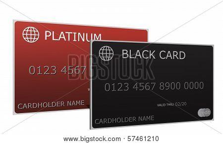 Platinum And Black Credit Cards