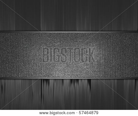 Metal Background with metal nameplate.