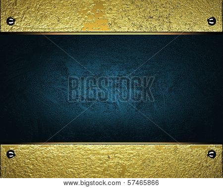 Gold Background with blue nameplate for writing.