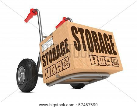 Storage - Cardboard Box on Hand Truck.