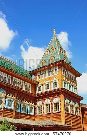 Moscow - August 03: Ancient Wooden Palace Of The Russian Tsar Alexei Mikhailovich On August 03, 2013