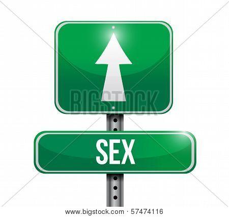 Sex Road Sign Illustration Design