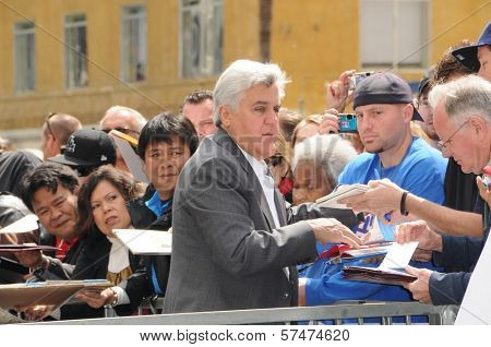 Jay Leno  at the Russell Crowe star ceremony into the Hollywood Walk of Fame, Hollywood, CA 04-12-10