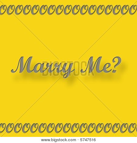 Marry me Grey on Gold