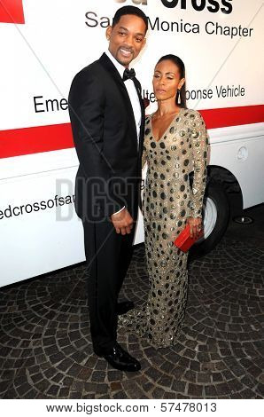 Will Smith and Jada Pinkett Smith at the Red  Cross Red Tie Affair Fundraiser Gala, Fairmount Miramar Hotel, Santa Monica, CA. 04-17-10