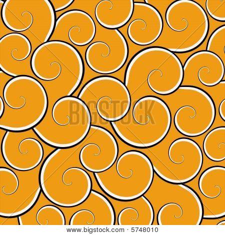 Orange Swirl Background