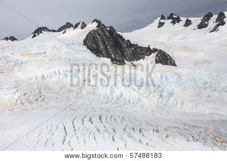 Franz Josef Glacier from top view, New zealand
