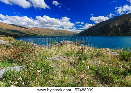 Road to beautiful lake Wakatipu Queenstown New Zealand