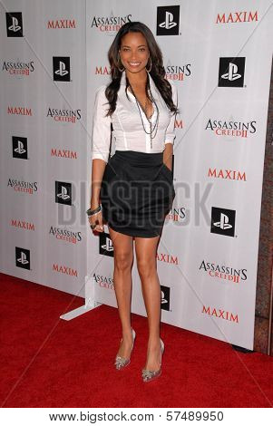 Rochelle Aytes at the MAXIM magazine and Ubisoft launch of Assassin's Creed II, Voyeur, West Hollywood, CA. 11-11-09
