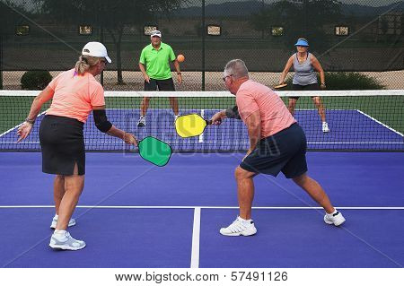 Pickleball Action - Mixed Doubles 2