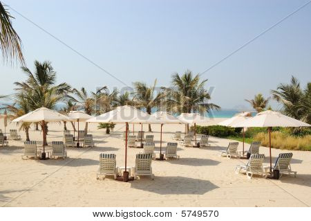 Beach At Luxurious Hotel in Dubai, UAE