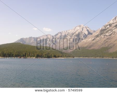 Lake Minnewanka In Canada