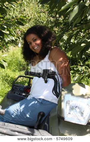 Girl On 4 Wheeler