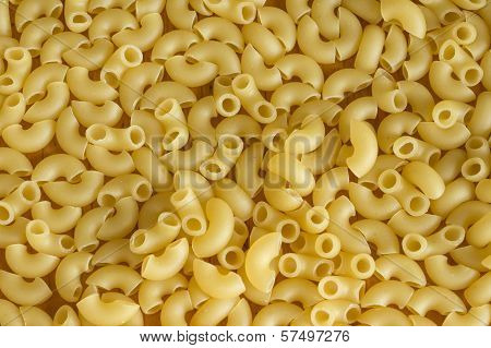 Background From Scattered Pasta Close Up