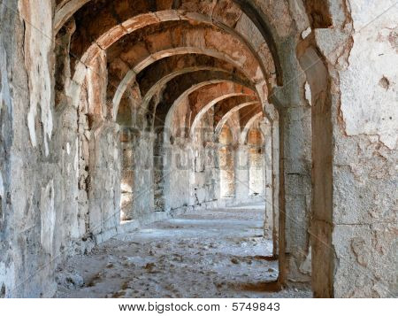Arch Gallery In Ancient Amphitheater