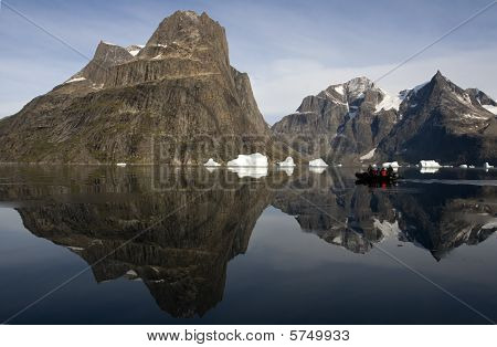 Tourists In Sermilik Fjord