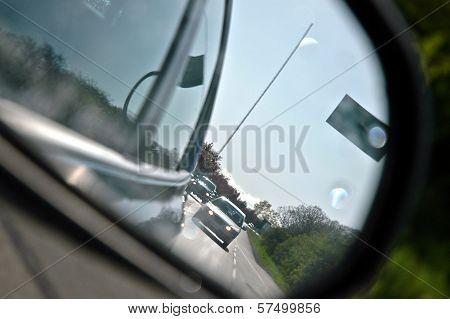 Reflection from rear window