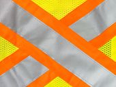 picture of ppe  - Safety vest reflective tape in yellow and orange x - JPG