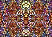 picture of kaleidoscope  - An eye - JPG
