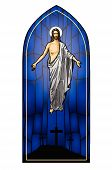 stock photo of risen  - Vector illustration of the Resurrected Jesus Christ - JPG