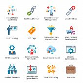 SEO & Internet Marketing Flat Icons - Set 2