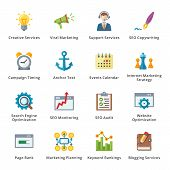 picture of time-piece  - This set contains 16 SEO and Internet Marketing Flat Icons that can be used for designing and developing websites - JPG