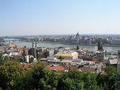 A panoramic view of Budapest from the Buda Castle