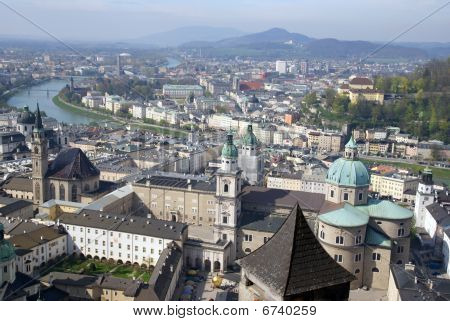 View Of Historical Center Of Salzburg, Austria